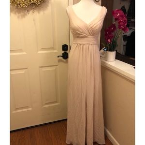 #Levekoff Champagne Colored Gown NWT